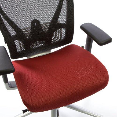 Istuinpäällinen punainen Ergonea Full Mesh työtuoliin, tyylikäs tymman punainen irtopäällinen työtuoleihin