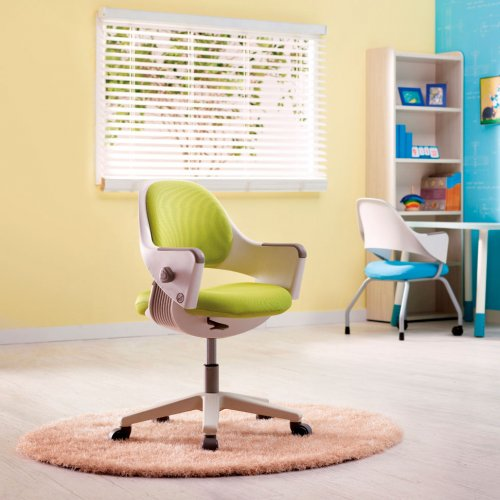 Lasten tuoli Ringo on koululaistuoli ja työtuoli lapselle, väri vihreä ja varustettu pyörillä, lasten työtuolit lastenhuoneeseen ja leikkihuoneeseen edullisesti, nyt lastenhuoneen kalusteet ja tuolit ergonominen lastentuoli sekä tuoli lapselle vihreä