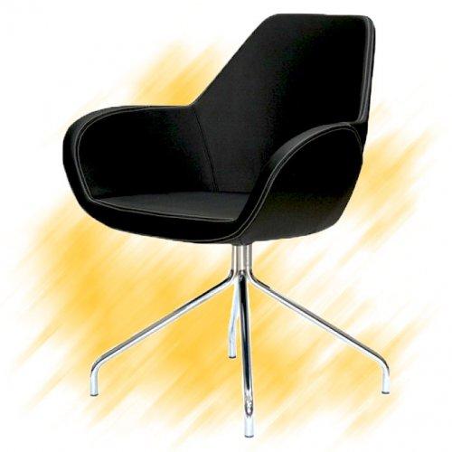 Neuvottelutuoli ja asiakastuoli Fan 10 musta edulliseen hintaan yrityksille