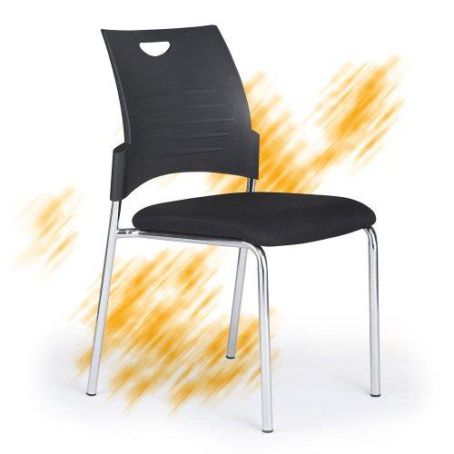 Neuvottelutuoli ja asiakastuoli Conference musta tai harmaa, hyvä ergonomia ja istumamukavuus, tyylikäs kokoustuoli kromattu kiiltävä runko on hyvän näköinen, tarjous hintaan vierastuoli ja asiakastuoli ei neuvottelutuoli musta, edullinen hinta tarjous