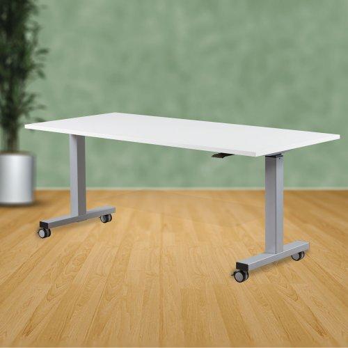 Säädettävä työpöytä Top Adjust 150 lukittavilla pyörillä, säädettävät työpöydät ja tietokonepöydät hinta tarjous