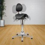 Kaksiosainen satulatuoli selkänojalla Ergonea Dual Gym Twist aktiivituoli edullisesti