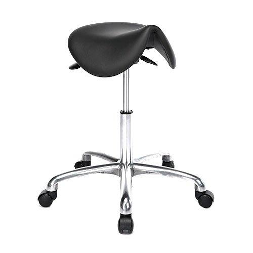 Satulatuoli Kiia Rodeo ergonominen musta nahka istuin edullisesti netistä