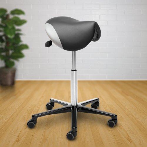Satulatuoli Ergonea Custom kaksivärinen musta valkoinen satula ergonominen kotimainen satulatuoli miehille ja naisille