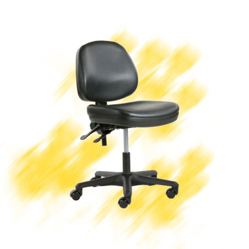 Teollisuustuoli Indy 3 musta pehmeä laboratoriotuoli on ergonominen hyvä työtuoli, teollisuustuolit / laboratoriotuolit tarjous hintaan