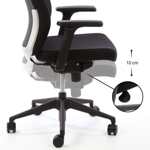 Hyvä tietokonetuoli ja ergonominen konttorituoli Ergonea Deon korkeuden säätö