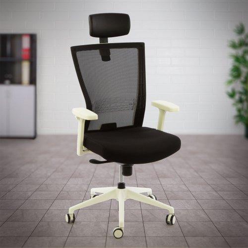 Valkoinen työtuoli keinumekanismilla Ergonea Airex on hyvä ja ergonominen valkoinen toimistotuoli jolla edullinen tarjous hinta, verkkoselkänoja keinuva kaunis tyylikäs työtuoli toimistotuolit paras ergonomia hyvä työtuoli selälle kaunis valkoinen