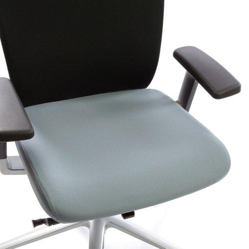 Ergonea Fabric työtuolin vaihdettava harmaa istuinpäällinen