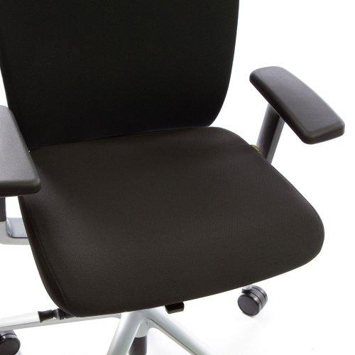 Ergonea Fabric työtuolin vaihdettava musta istuinpäällinen