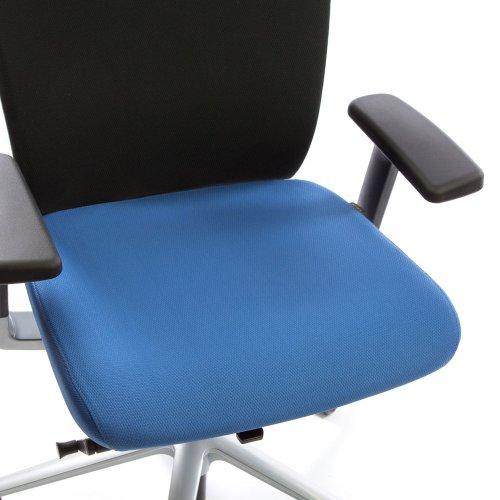 Ergonea Fabric työtuolin vaihdettava sininen istuinpäällinen