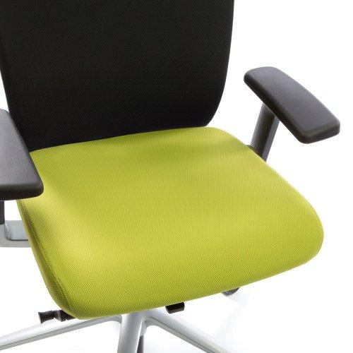 Ergonea Fabric työtuolin vaihdettava vihreä istuinpäällinen