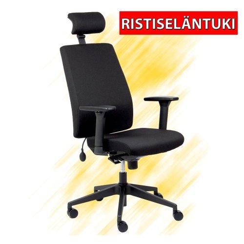 Työtuoli Comfo Two on ergonominen toimistotuoli ristiselän tuki