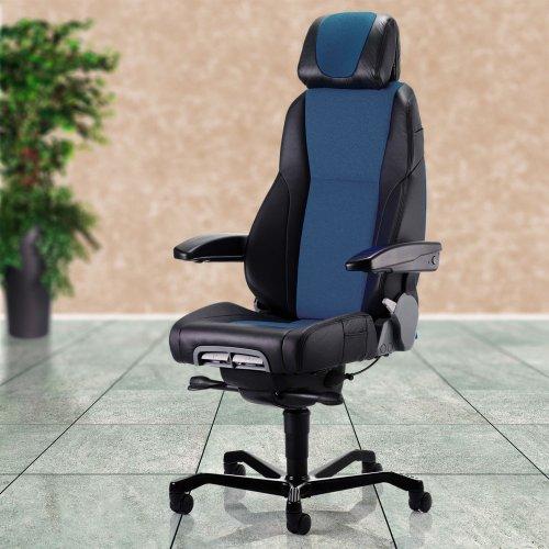 Valvomotuoli ja ergonominen työtuoli Kab Seating K4 on edullinen hyvä valvomotuoli nahka ja ergonominen toimistotuoli musta kangas tai nahka, valvomotuoli hinta tarjous, paras työtuoli hyvä ergonomia edullinen tietokonetuoli käytetty työtuoli Kab sininen