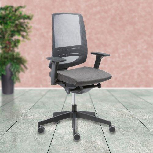 Työtuoli Light UP Mesh 250SL tietokonetuoli käsinojilla, Light Up Mesh on ergonominen toimistotuoli verkkoselkänojalla, työtuoleja ja tietokonetuoleja verkkokaupasta edulliseen hintaan