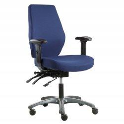 Toimistotuoli Optimum N sinisella kankaalla