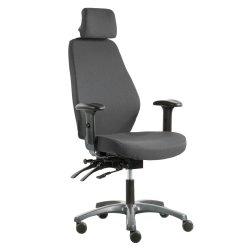 Hyvä toimistotuoli Optimum Z edullinen ja ergonominen työtuoli hinta tarjouksessa harmaalla kankaalla