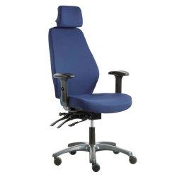 Hyvä työtuoli hinta tarjous Optimum Z ergonominen ja paras työtuoli sinisellä kankaalla