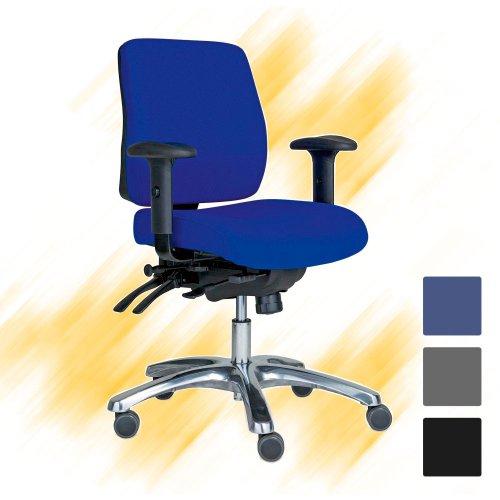 Työtuoli Pro 20+ sininen käsinojilla varusteltu työtuoli edulliseen hintaan netistä