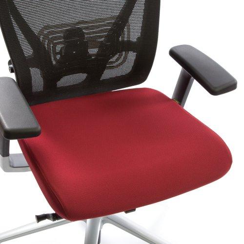 Istuinpäällinen punainen Ergonea Mesh työtuoliin, värikkäät istuinpäälliset työtuoleihin