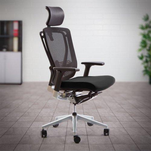 Työtuoli keinumekanismilla Ergonea Mesh mustalla verhoilulla on hyvä verkkoselkäinen työtuoli ja ergonominen toimistotuoli jolla on edullinen hinta
