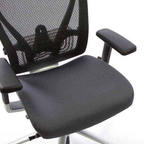 Ergonea Full Mesh verkkotuolin vaihdettava harmaa istuinpäällinen
