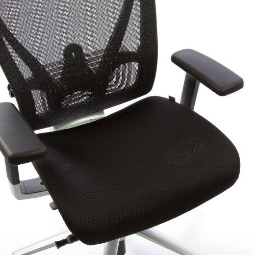 Hyvän työtuolin Ergonea Full Mesh verkkotuolin vaihdettava musta istuinpäällinen
