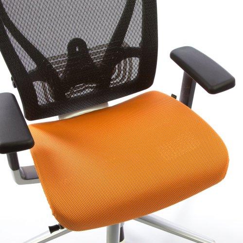 Ergonomisen Ergonea Full Mesh työtuolin vaihdettava oranssi istuinpäällinen