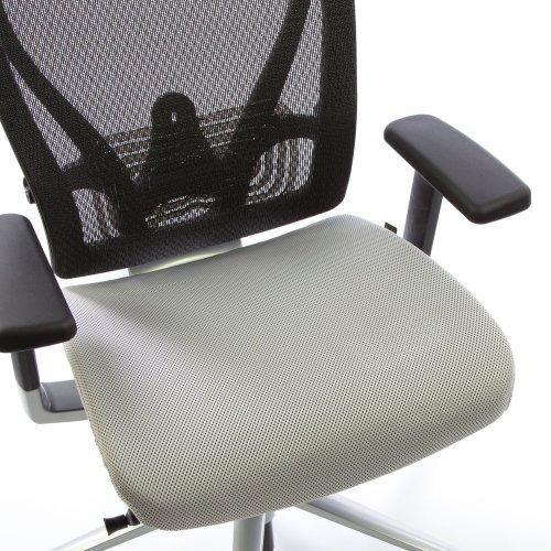 Ergonea Mesh verkkotuolin vaihdettava vaaleanharmaa istuinpäällinen