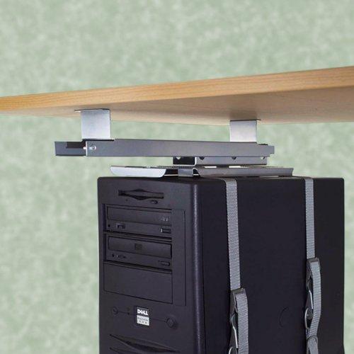 Keskusyksikköteline eli tietokoneteline sähköpöytään nyt edulliseen hintaan toimistolle, keskusyksikön kiinnitys työpöydän alle tai sähköpöydän alle, ulosvedettävä tietokoneteline tarjous hintaan